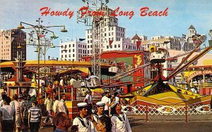 Nu Pike,  Midway area, Long Beach, Amusement Park, Ca, Old Postcard