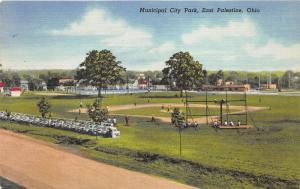 East Palestine Ohio~Municipal City Park~Baseball Field~Game in Progress~1940s Pc