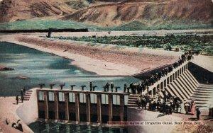USA Head Gates of Irrigation Canal Near Reno Nevada 04.27