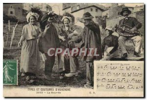 Old Postcard Folklore TYPES AND CUSTOMS AUVERGNE - The Bourree