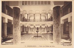 Morocco Casablanca Patio de l'Hotel de Ville