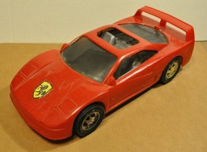 Ferrari Red Large American Plastic Toy Vintage Made in USA Vintage VTG