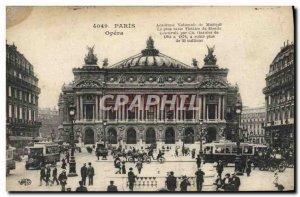 Old Postcard Paris Opera Music Academy