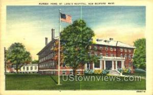 Nurses' Home St Luke's Hospital New Bedford MA Unused