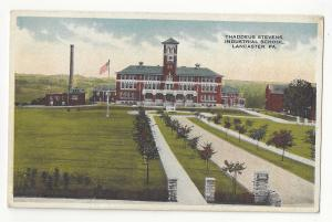 Lancaster PA Thaddeus Stevens Industrial School Vtg Postcard
