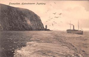 Norway Old Vintage Antique Post Card Finmarken Hjelmsostauren Unused
