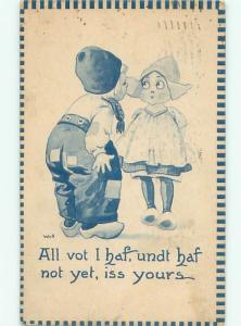 Divided-Back CHILDREN SCENE Great Postcard AA5891