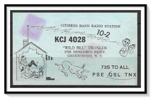 North Carolina, Greensboro QSL Ham Radio - (MX-017)