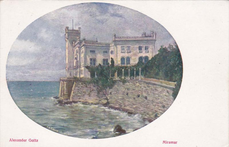 MIRAMAR, Italy, 1900-1910's; Alexander Gloltz, Castle