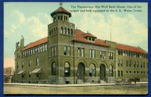 Waco Texas tx Natatorium Hot Well Bath House old postcard
