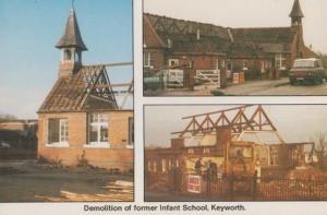 Keyworth Suffolk Infant School Demolition Postcard