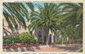 MURRIETA, California, 30-40s; Murrieta Mineral Hot Springs, Front of Main Hotel