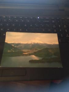 Vtg Postcard: Lago Tudos Los Santos Cerro Puntiagudo