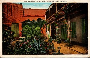 Louisiana New Orleans Old Spanish Court Yard 1932