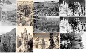 Fred Harvey Publisher Real Photo Set of 10, 1 card is double Unused