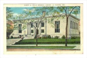 Albert A. Wells Memorial Library, La Fayette, Indiana, 1900-1910s