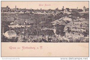 Gruss Aus Rothenburg Germany Total Ansicht