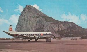 BEA Plane at Gibraltar Airport Vintage Postcard