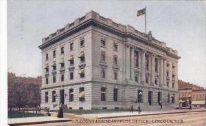 Nebraska Lincoln Court House &  Post Office 1910