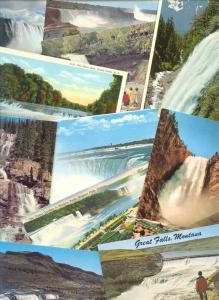 44x Standard Sized Postcards American and Canadian WATERFALL