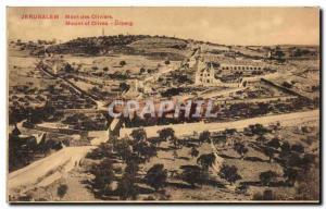 Postcard Old Jerusalem Mont Des Oliviers