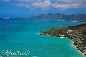 HAWAII HAWAIIAN ISLANDS AERIAL VIEW POSTCARD