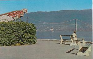 Figurehead at Stanley Park, Empress of Japan, British Columbia, Canada, 40-60s
