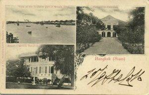 siam thailand, BANGKOK, British Legation, Portuguese Consulate, Menam (1901)