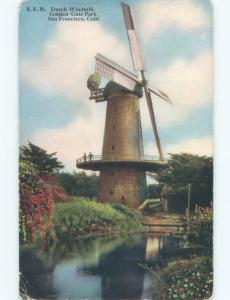 Unused Divided-Back WINDMILL IN GOLDEN GATE PARK San Francisco CA c8141