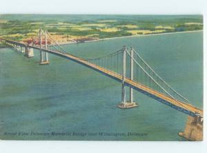Linen BRIDGE SCENE Deepwater New Jersey To Wilmington Delaware DE H8667
