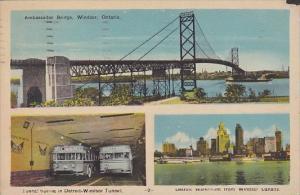 Canada Windsor Multi View Ambassador Bridge Detroit Windsor Tunnel and View O...