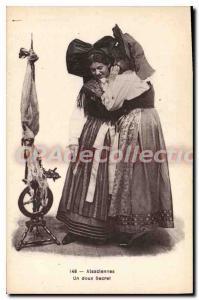 Postcard Old Alsaclennes A Sweet Secret