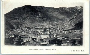 1908 GEORGETOWN, Colorado Postcard Bird's-Eye Panorama View Looking South