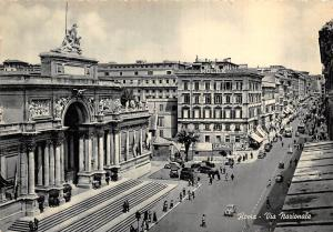 Italy Roma Via Nazionale Street Vintage Cars Voitures