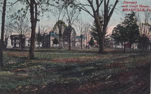 Diamond and Court House, Meadville, Pennsylvania, 1900-1910s