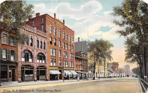 Genesee Street Utica NY Writing On Back