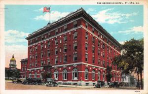 The Georgian Hotel, Athens, Georgia, Early Postcard, Used in 1930