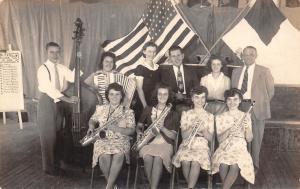 Malvern Iowa~Patriotic WWII~Church Honor Roll~Musical Instrument Band~1940s RPPC