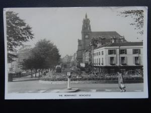 Staffordshire NEWCASTLE UNDER LYME The Ironmarket c1950's RP Postcard