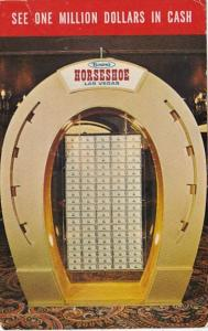Nevada Las Vegas Binion's Horseshoe Club Million Dollar Display