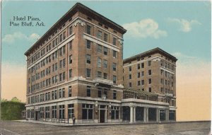 PINE BLUFF AR - HOTEL PINES street view / 1910s era