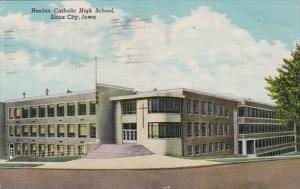 Iowa Sioux City Heelan Catholic High School 1951 Curteich