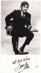 Dave Allen BBC Comedian Vintage Show Hand Signed Photo