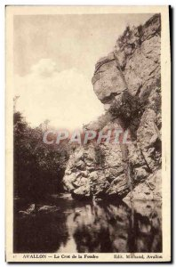 Old Postcard Avallon Le Crot Of Lightning