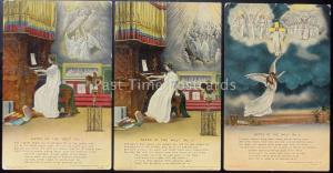 GATES OF THE WEST Bamforth & Co Song Cards set of 3 No 4537/1/2/3
