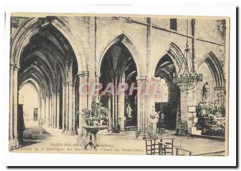 Saint pol. of Leon Vintage Postcard Interior of absilic ABS dimensions and the