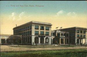 Manila Philippines Army & Navy Club c1910 Postcard