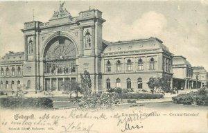 Hungary Budapest 1901 railway station palyaudvar