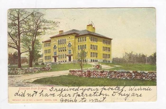 Gardner High School,Gardner,Massachuse tts,1907