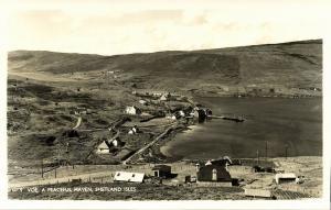 scotland, Shetland, VOE, Delting Parish, A Peaceful Haven (1930s) RPPC Postcard